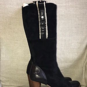 Ugg suede tall dressy boot with 2 1/2 inch heel